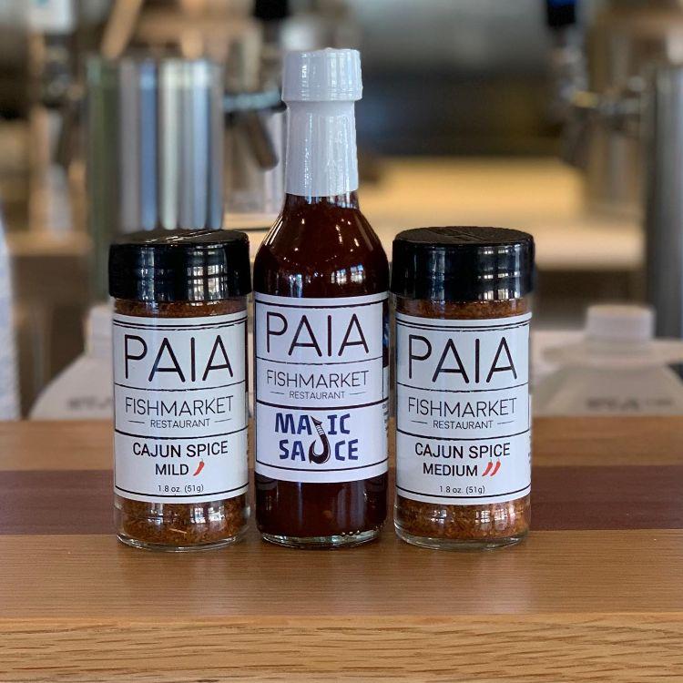 Hot sauce and seasoning by Paia Fish Market