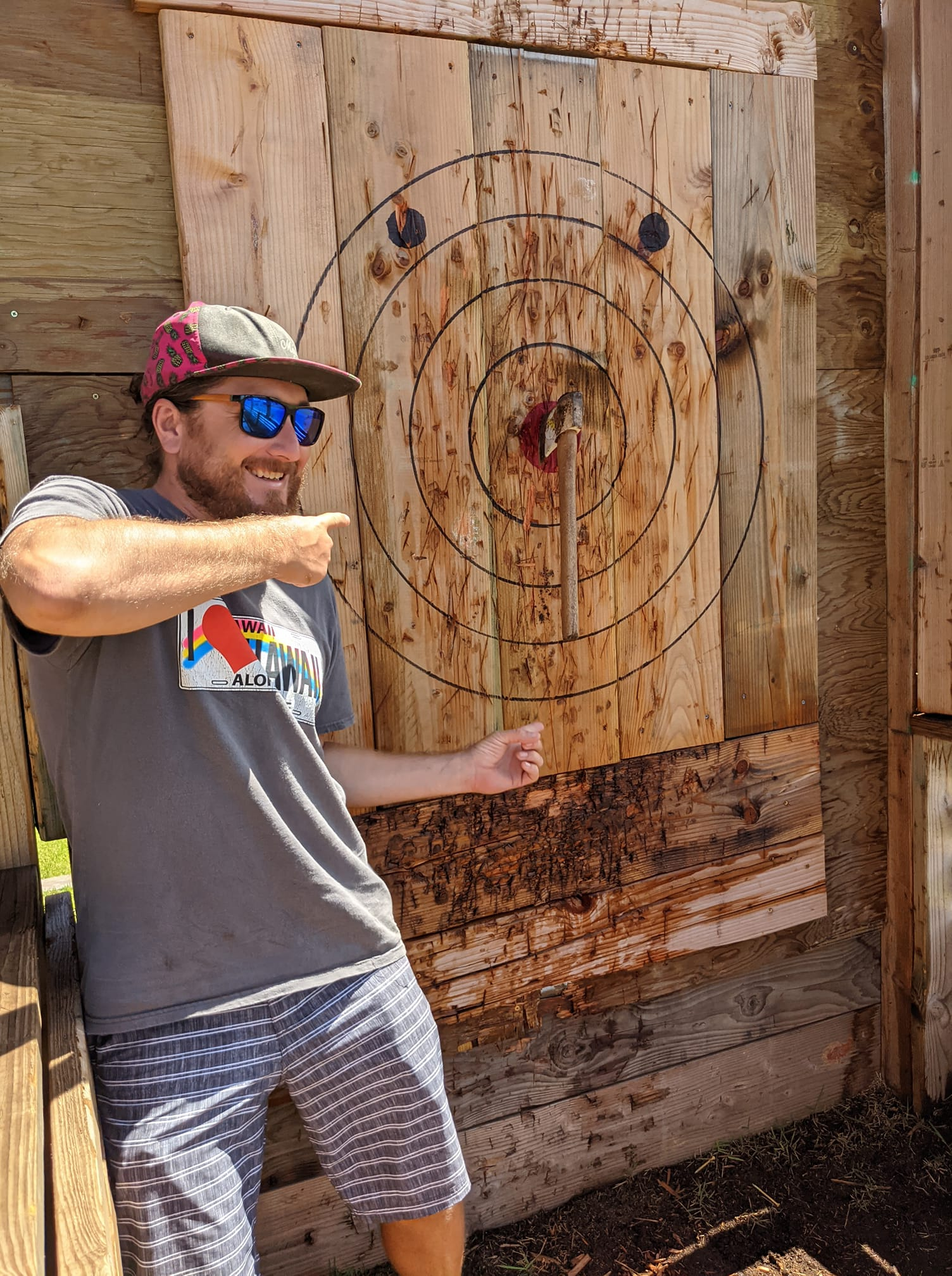 Axe Throwing Lahaina - Russell Snyder Maui Happy Hours