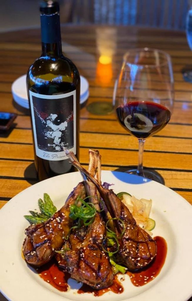 Lamb Chops and Red Wine entree