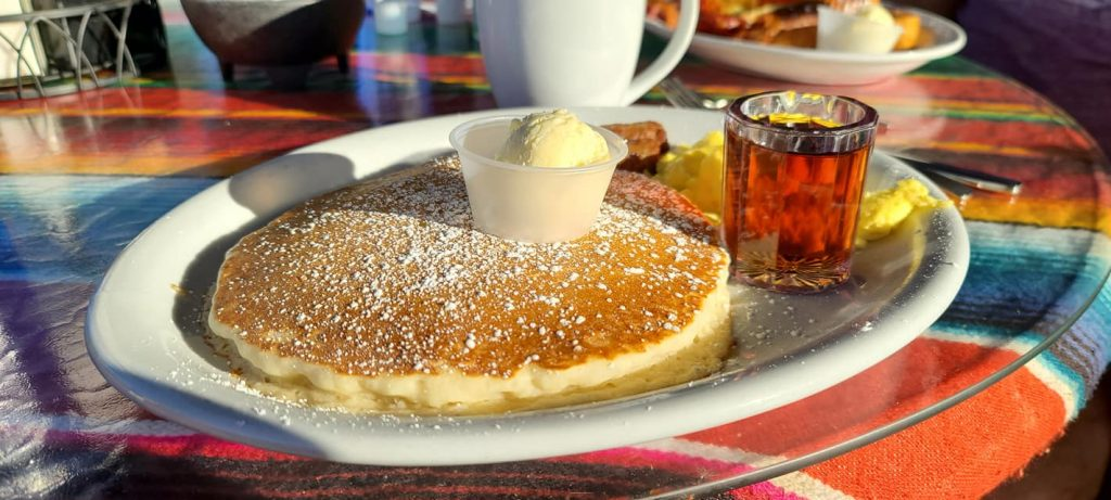 Pancakes at Amigos HAppy Hour
