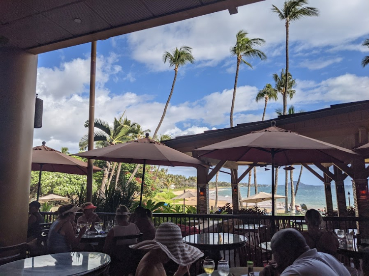 Happy hour with a view at five palms maui
