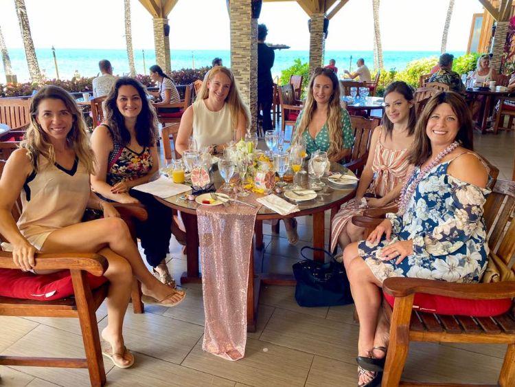 Beautiful ladies at 5 Palms Restaurant Maui