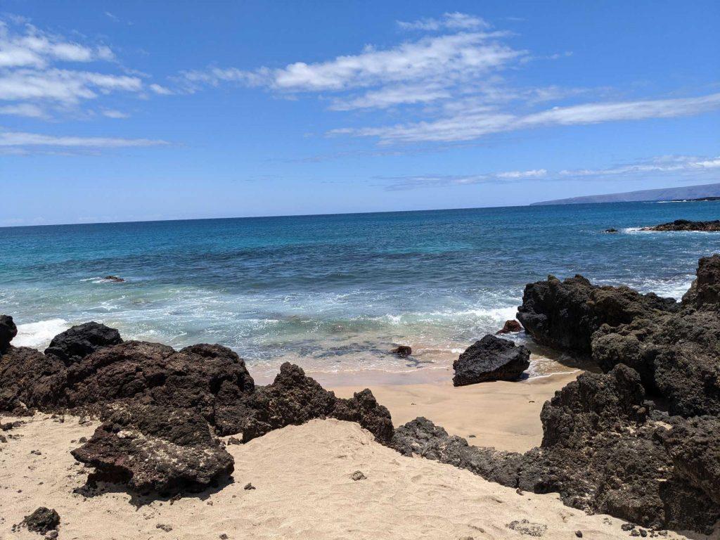 Isolated beach Maui