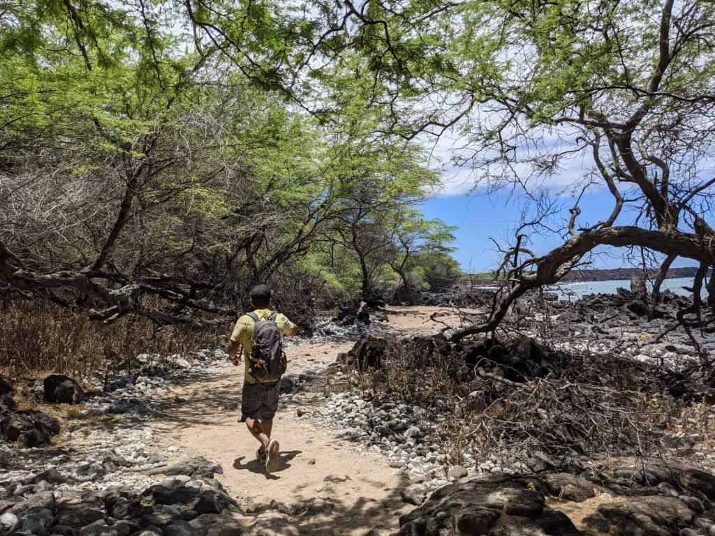 Sal Sanchez hiking Maui