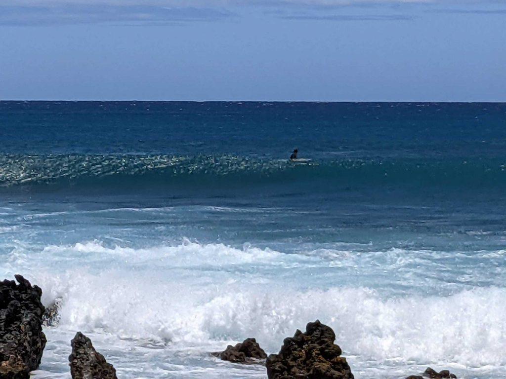 Surfer at La Perouse Maui Hawaii
