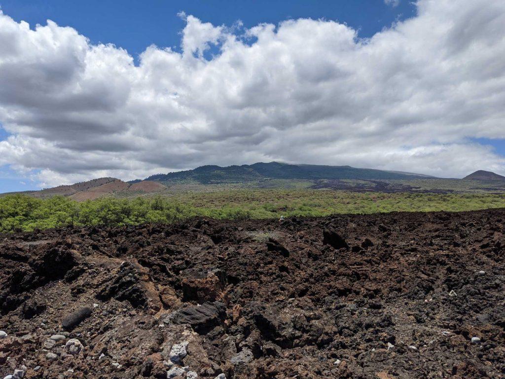 Haleakala volcano Maui from La Perouse Lava Fields hike