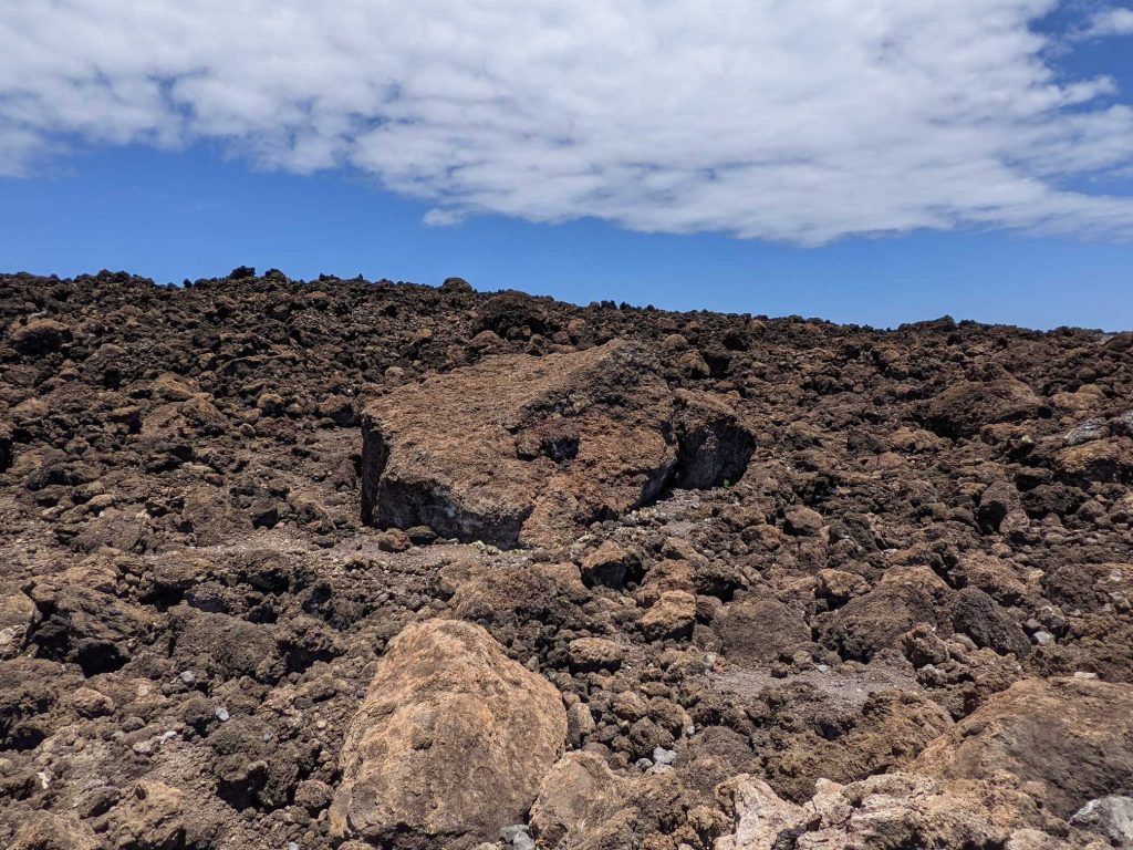 Giant lava rock in Maui Hawaii