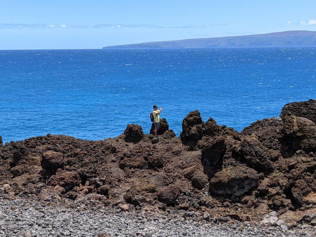 Lava Fields in front of ocean at La Perouse Maui