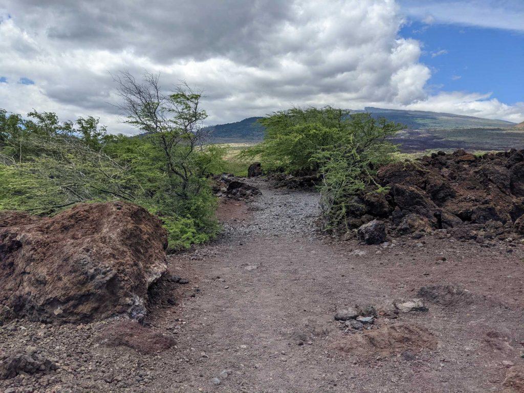 Hiking the lava fields in Hawaii