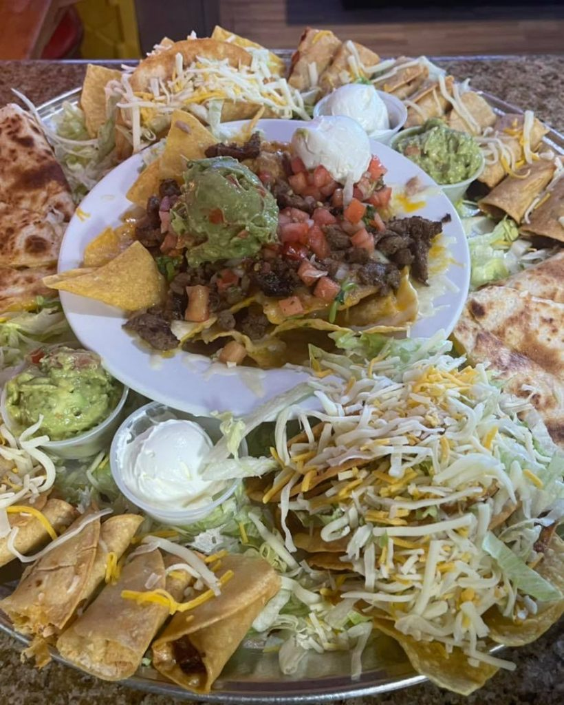 Mexican restaurant fiesta party platter