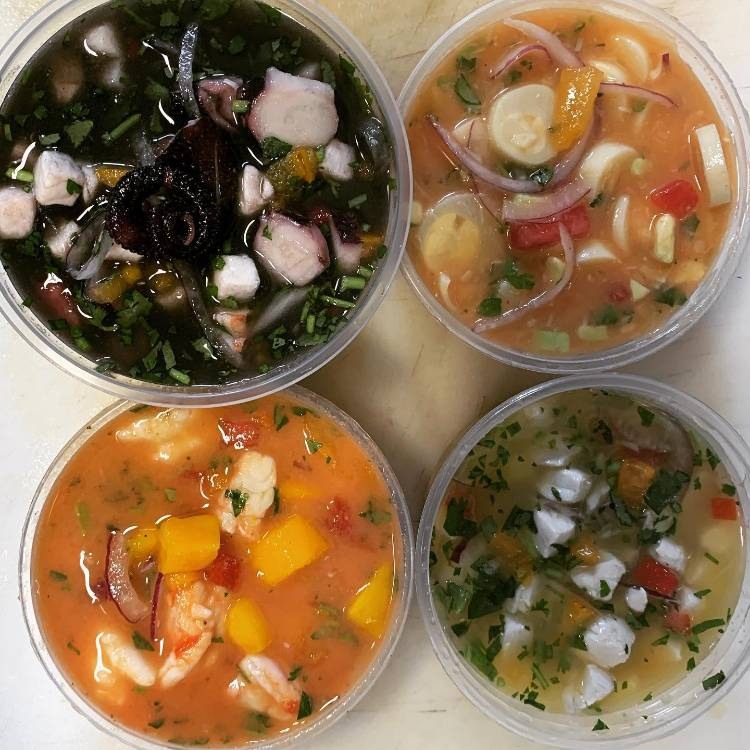 Variety of Ceviche at Food Truck Happy Hour