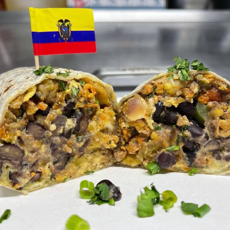 Happy hour burrito from Ecuador