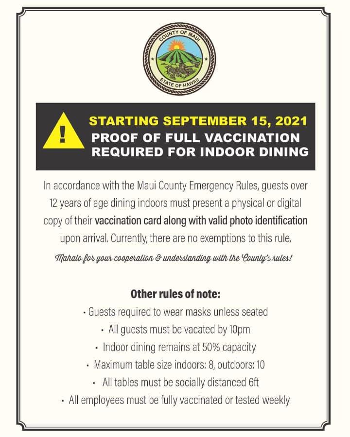 Maui Travel Restrictions September 2021