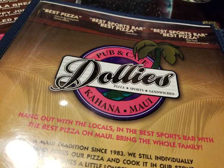 What is the happy hour at Dollies pub Maui