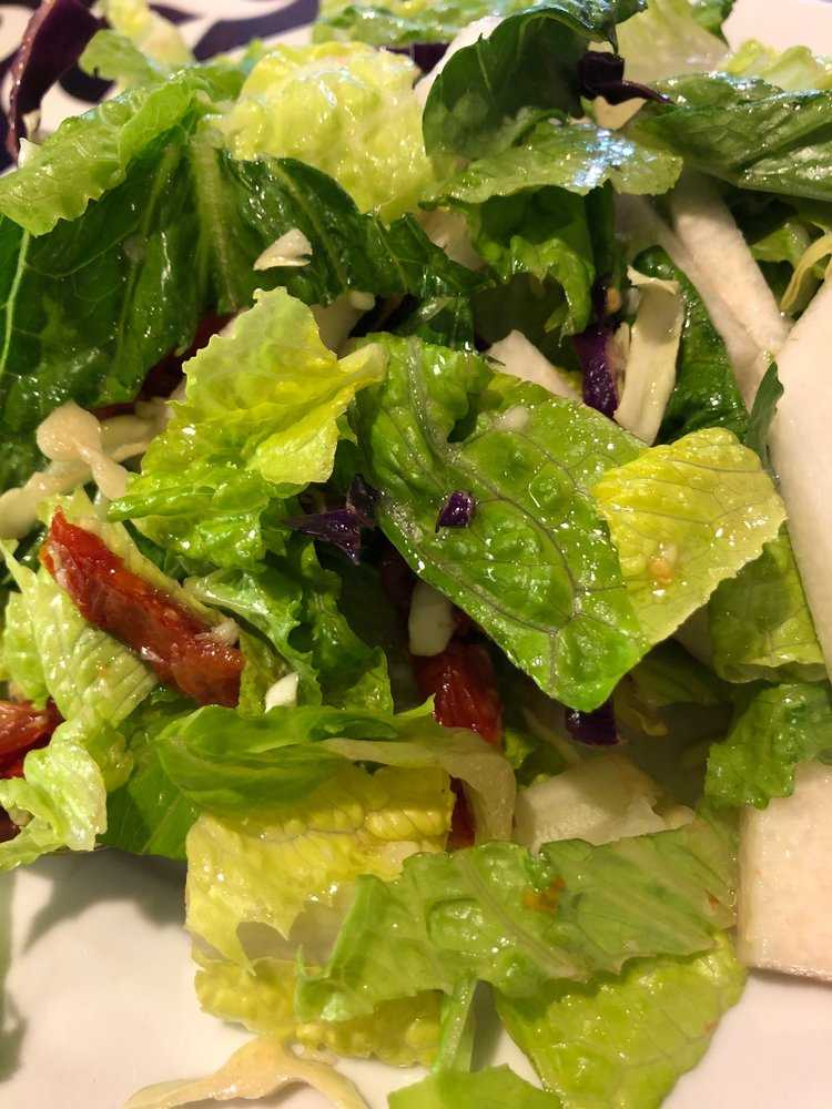 Happy hour salad closeup