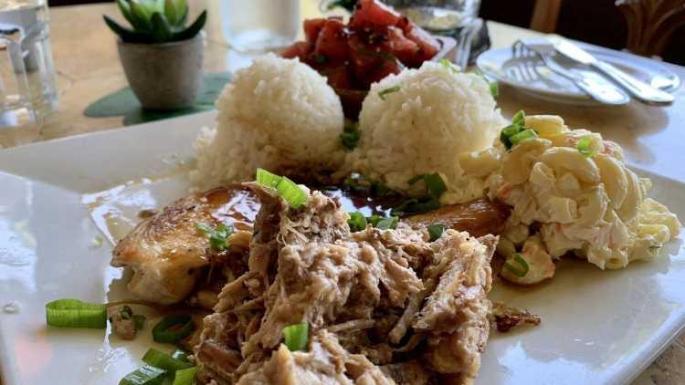 Happy hour Hawaiian Plate Lunch
