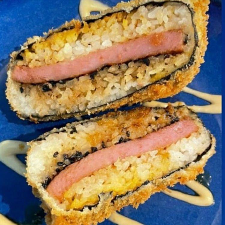 Fried Spam Musubi - Happy hour at Southshore Grindz Kihei HI Maui restaurant