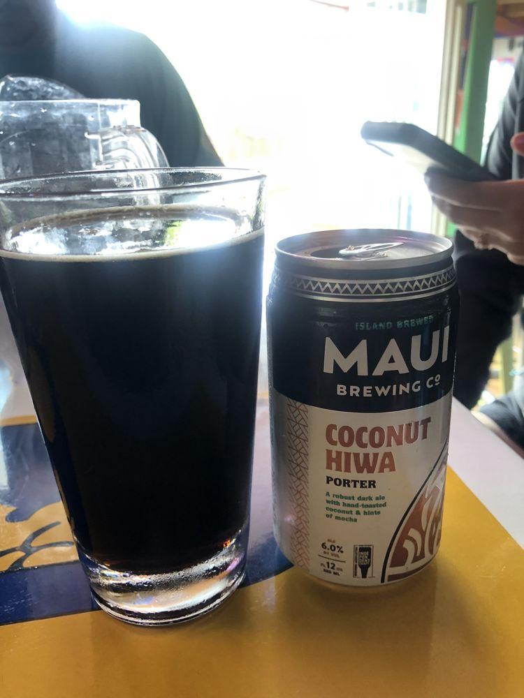 Maui Brew Coconut Porter at Spankys Happy Hour
